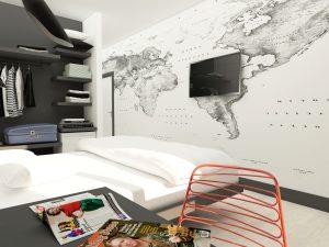 хотелска стая сиво